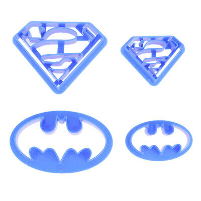 4 Pcs/set Super Hero Batman Superman Cookie Cutters Sugarcraft Cake Decoration • 4.41£