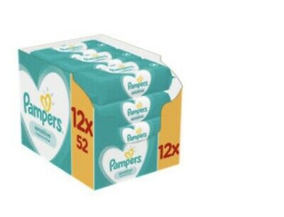 Pampers Sensitive Baby Wipes 12 Packs = 624 Wipes • 27.99£