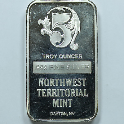 $ CDN205.53 • Buy 5 Oz .999 Fine Northwest Territorial Mint Silver Bar