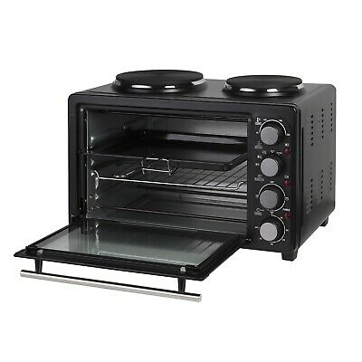 £96.89 • Buy 28L Electric Mini Toaster Oven & Grill Rotisserie Compact Cooker With Hot Plates