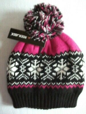 £3.99 • Buy Rock Jock: Ladies Warm Lined Fair Isle Bobble Hat.available In 3 Colours.