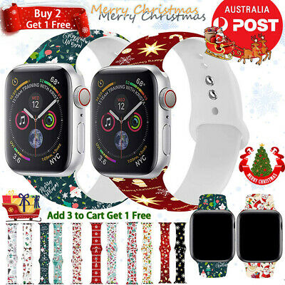 AU12.89 • Buy For Apple Watch Strap Band Series SE 6 5 4 3 Silicone IWatch Band Christmas Gift