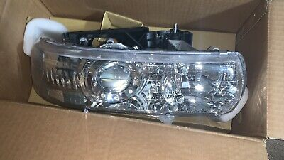 $29.99 • Buy Driver Side Headlights Lamps Chrome Projector For Silverado Tahoe Suburban