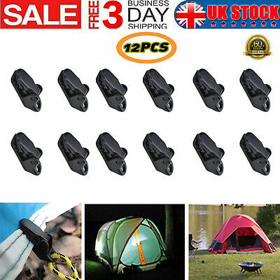 12X Awning Clamp Tarp Clips Snap Hangers Tent Camping Survival Tighten Tool UK • 2.89£