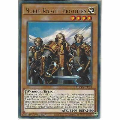 £0.99 • Buy MAGO-EN083 Noble Knight Brothers 1st Edition Rare YuGiOh Trading Card Gold Title