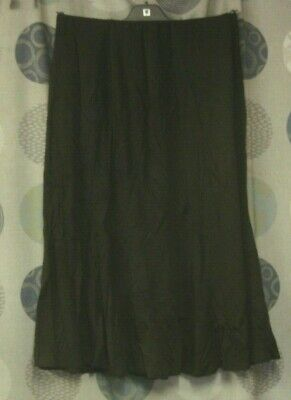 Special Collection :size 14 Brown  Jersey  Step-into  A-line Godet Skirt    • 8.99£
