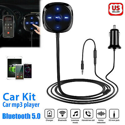 $13.98 • Buy 3.5mm Car AUX Bluetooth Wireless Stereo Audio Music Receiver Adapter USB Charger