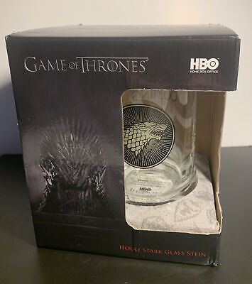 £10 • Buy Game Of Thrones Glass Tankard House Stark Glass Stein HBO Boxed