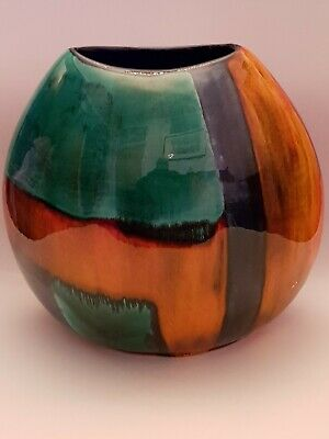 £95 • Buy Poole Pottery Large Fat Purse Vase By Anita Harris