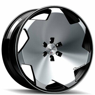 $1999 • Buy 22  STAGGERED GIOVANNA WHEELS MASISS BLACK MACHINED RIMS Blank