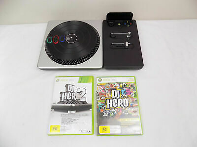 AU53.91 • Buy Xbox 360 DJ Hero Turntable Wireless Controller + Dj Hero 1 And 2 Games
