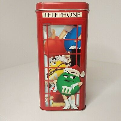 $12.95 • Buy M&M's Telephone Booth Canister | Tin Limited Edition 2002 Collectible