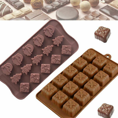 3d Silicone Mold Christmas Gift Box Present Mould Soap Wax Melt Chocolate UK • 3.49£