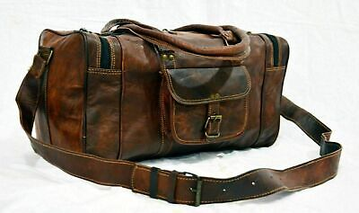 $39 • Buy Bag Leather Travel Duffle Gym Weekend Overnight Luggage Holdall Mens Large New