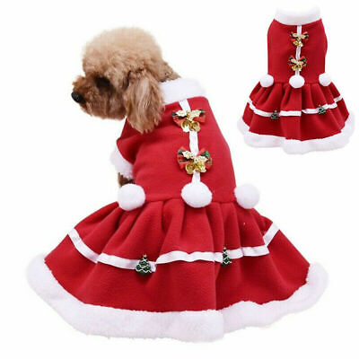 UK Christmas Pet Puppy Dog Cat Santa Claus Costume Outfits Hoodie Fancy Dress • 7.15£