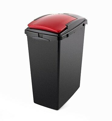 Addis 40L Under Counter Slim Recycling Bin With Red Lid • 13.60£