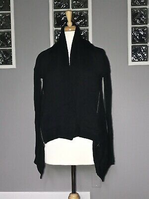 $ CDN66.30 • Buy Lululemon Wrap It Up Sweater 6 Black Knit Long Sleeve Cardigan Zippers Vguc