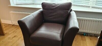 Dark Brown Leather M&S Armchair. Good Condition And Barely Used. • 115£