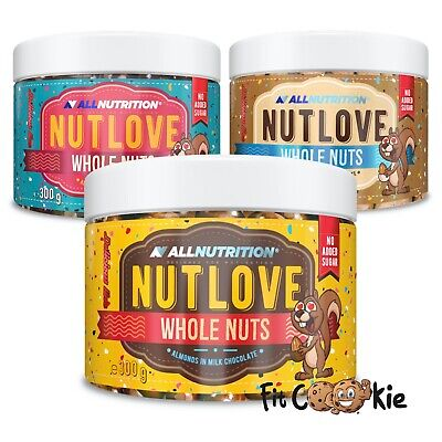 NutLove Whole Almonds In Chocolate No Added Sugar  300g - All Nutrition Nut Love • 9.99£
