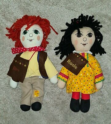 Rosie And Jim Rag Dolls 16   Removable Clothes 90's Rare Collector's Item  • 68.95£