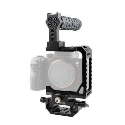 $ CDN162.90 • Buy CAMVATE Camera C-frame Cage Rubber Grip Baseplate Mount For Sony A7RIII A7III A9