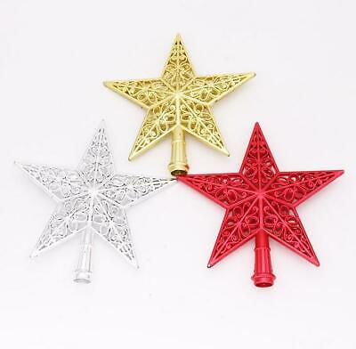 UK 8'' Large Christmas Tree Top Star Gold Sliver Red Topper Tree Xmas Decoration • 3.99£