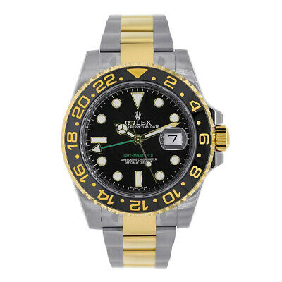 $ CDN23387.72 • Buy Rolex GMT Master II Steel And Yellow Gold Black Index Dial Watch 116713LN