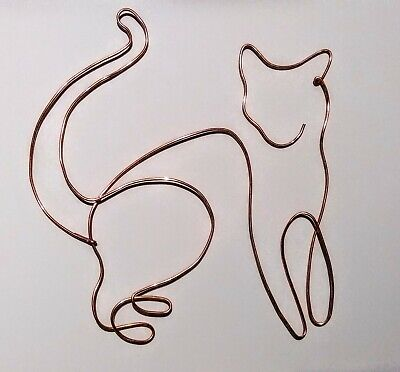 Wire Wall Art Cat Figure Abstract Sculpture  Large • 19.99£