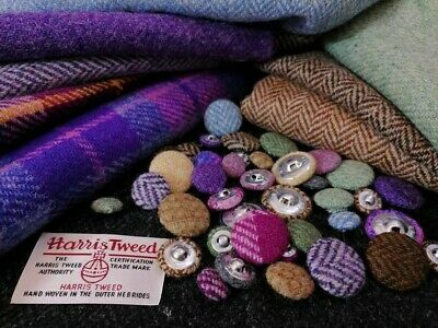 £2 • Buy Harris Tweed Pure Scottish Wool Buttons , 3 Size Available (2pk)