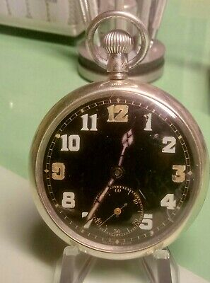 Ww2 British Miilitary G.s.t.p.  Kf 260 Certina Pocket Watch Fully Serviced Vgc • 96£