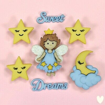 £2.99 • Buy DRESS IT UP Buttons Sweet Dreams 8296 - Embellishments Clouds Stars Angel Fairy