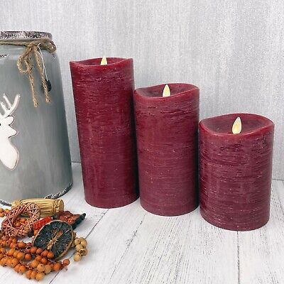 £26.99 • Buy Stunning Red Luminara Flameless Battery Candles With Remote Control & Timer