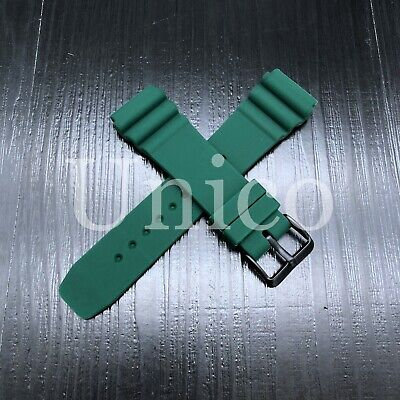 $ CDN13.08 • Buy FOR SEIKO 22mm Rubber Watch Strap Band Bracelet Buckle Clasp Black Green Diver
