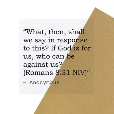 £4.99 • Buy 6 X Christian & Bible Quote By Anonymous Clear Stickers (SK00000461)