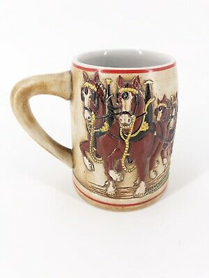$ CDN54.87 • Buy Budweiser Champion Clydesdale 1980 Holiday Stein Ceramarte Mug Made In Brazil
