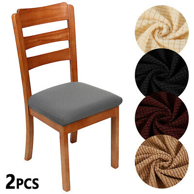 AU17.96 • Buy Stretch Dining Chair Covers  Living Room Seat Cover Elastic  Protector Slipcover