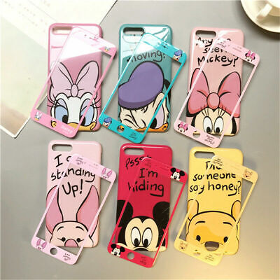 For IPhone 11 Pro Max XS XR Disney Stitch Full Screen Protector Phone Case Cover • 10.99£