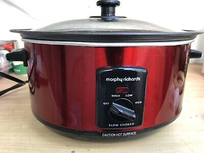 Morphy Richards Sear & Stew Red 3.5 Litre Slow Cooker - USED • 18£