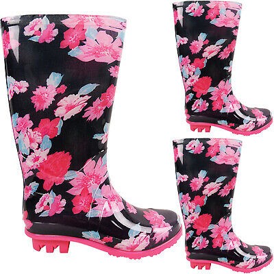 Childrens Womens Waterproof Wellies Wellington Rain Snow Knee Boots Shoes Size  • 11.95£