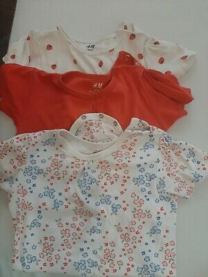 H&M Girl's 6 Bodysuits Bundle Age 2-3 Years Mix Short And Long Sleeves. Organic  • 10£