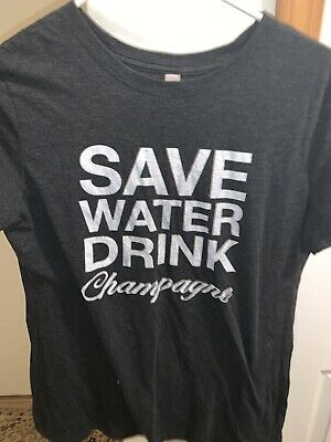 £10.24 • Buy Womens Save Water Drink Champagne T Shirt