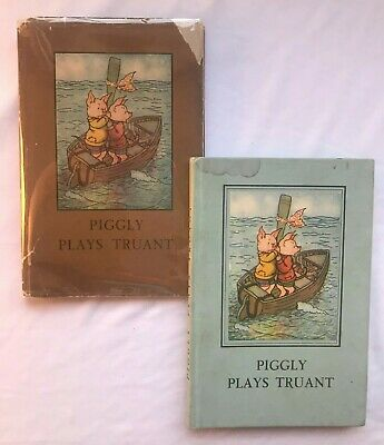 Piggly Plays Truant (MacGregor & Perring) - Vintage Ladybird 401, 2nd 1946 DJ • 22.60£