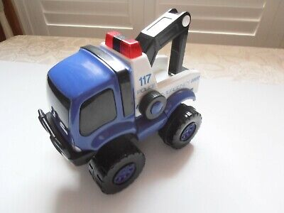 Vintage   117 Police Emergency  Push-along Toy Truck For Small Child/Toddler • 1.99£