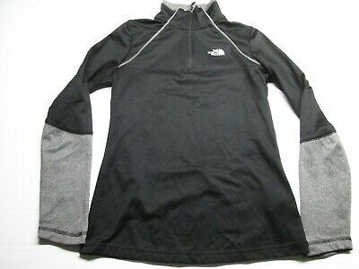 £10.02 • Buy THE NORTH FACE Women Long Sleeve Top Size XS Black Base Layer 1/2 Zip Pullover