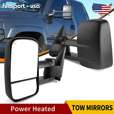 $94.70 • Buy LH & RH Side Tow Mirrors Power Heated For 99-02 Chevy Silverado 1500 2500 3500