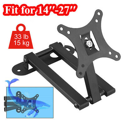 LCD LED TV PC Monitor Wall Mount Bracket Tilt Swivel Plasma Wall Mount Universal • 10.59£