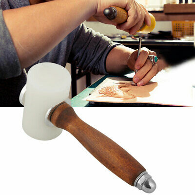 £9.86 • Buy Wooden Handle Leather Cutting Stamping Hammer Carving Mallet Nylon Craft Tool