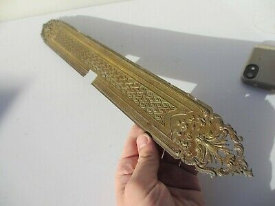 Victorian Brass Finger Plates Push Door Handles French Pierced Antique Old 20.5  • 10£