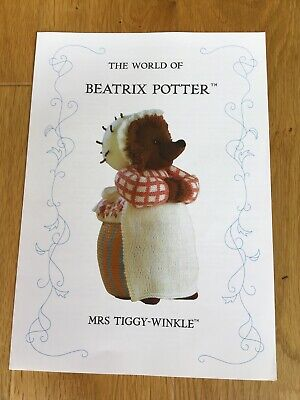 Beatrix Potter Knitting Pattern. Mrs Tiggy Winkle - By Alan Dart • 25£