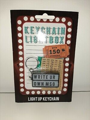 £3.69 • Buy Keychain Lightbox Keyring Key Ring Gift Write Your Own Message BRAND NEW